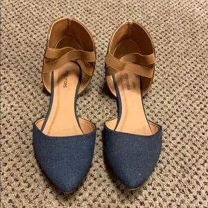 Maurices flat pointed toe shoe size 8